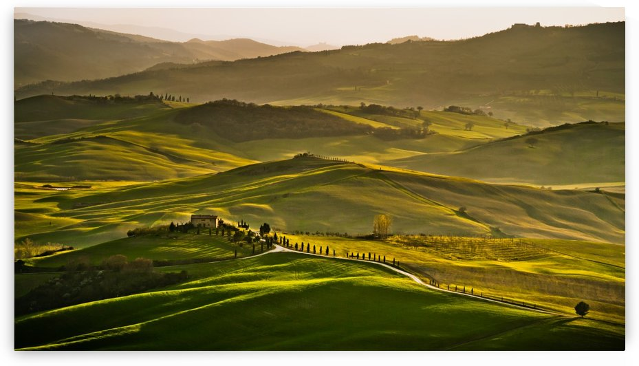Sunset in Tuscany by Andreas Wonisch