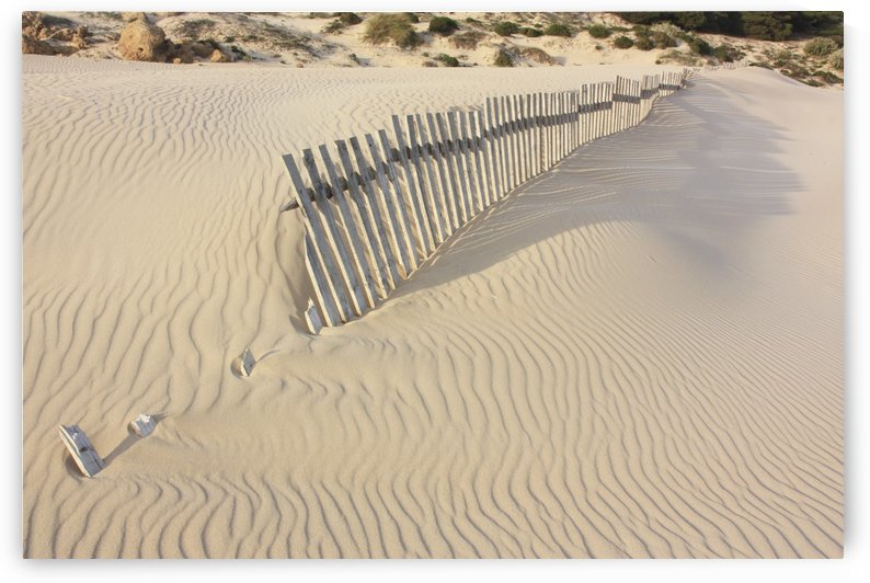 Fence In The Sand; Bolongna, Andalucia, Spain by PacificStock