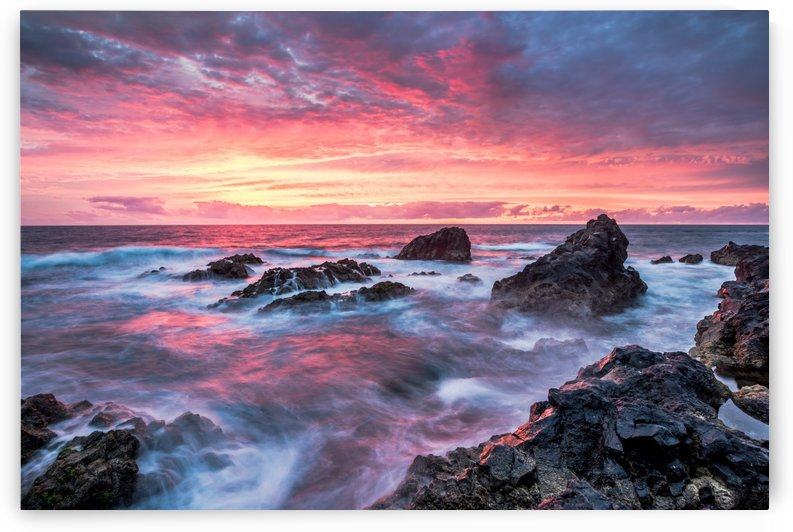 Colorful Sunset at Wild Coast on the Canary Islands by Andreas Wonisch
