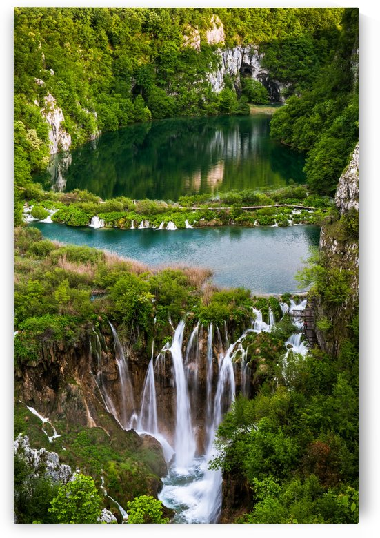 Waterfall Paradise Plitvice Lakes in Croatia by Andreas Wonisch