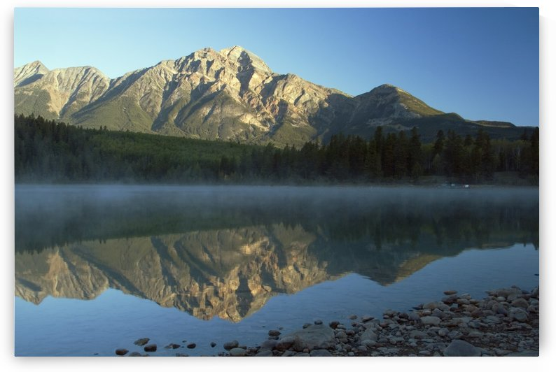 Jasper National Park, Alberta, Canada; Pyramid Lake And Mountains by PacificStock