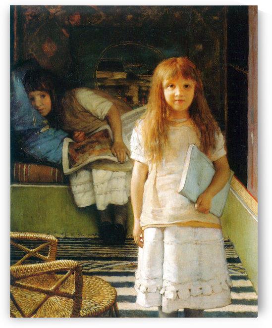 Portrait of Laurense and Anna Alma-Tadema as a child by Alma-Tadema by Alma-Tadema