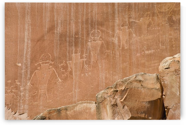 Utah, United States Of America; Indian Rock Art In Capitol Reef National Park by PacificStock