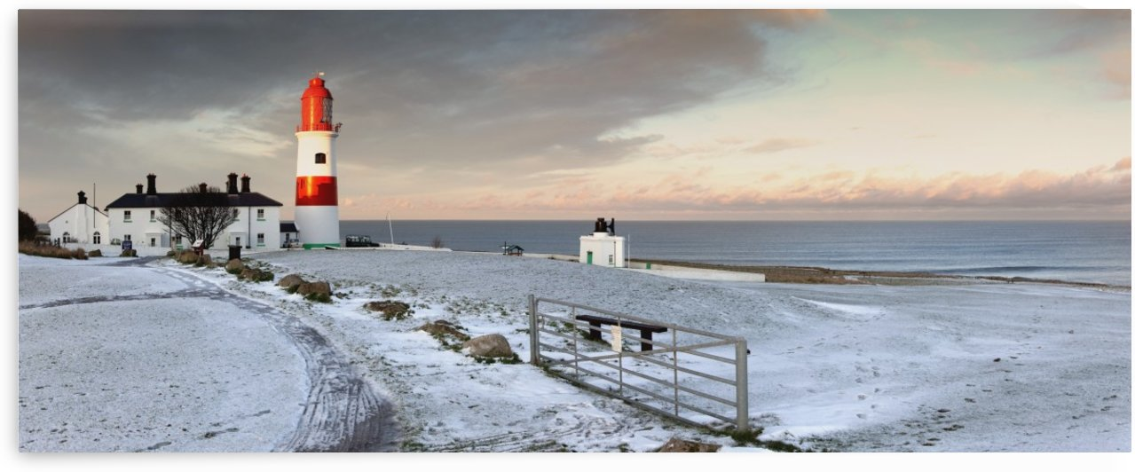 South Shields, Tyne And Wear, England; A Lighthouse And House Along The Coast by PacificStock