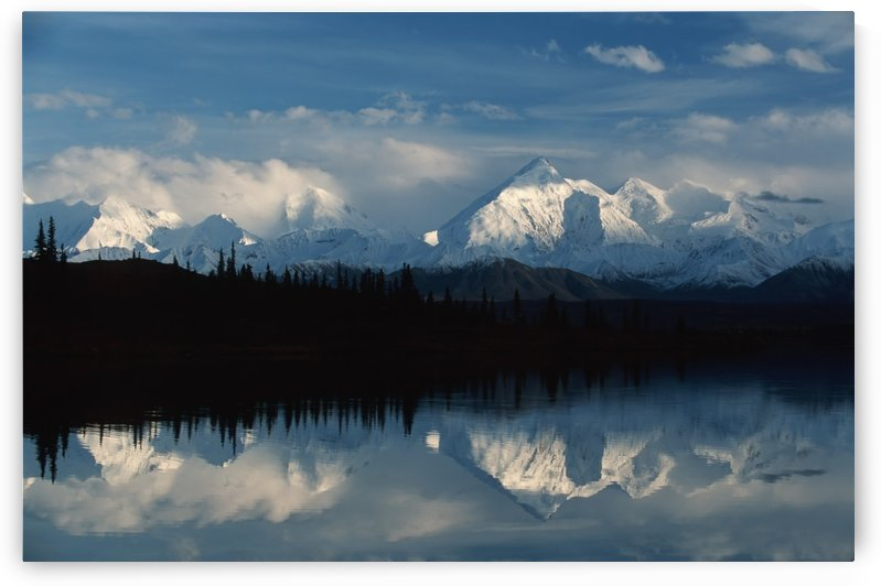 Alaska, United States Of America; Alaska Range Mountains Reflected In Wonder Lake In Denali National Park by PacificStock