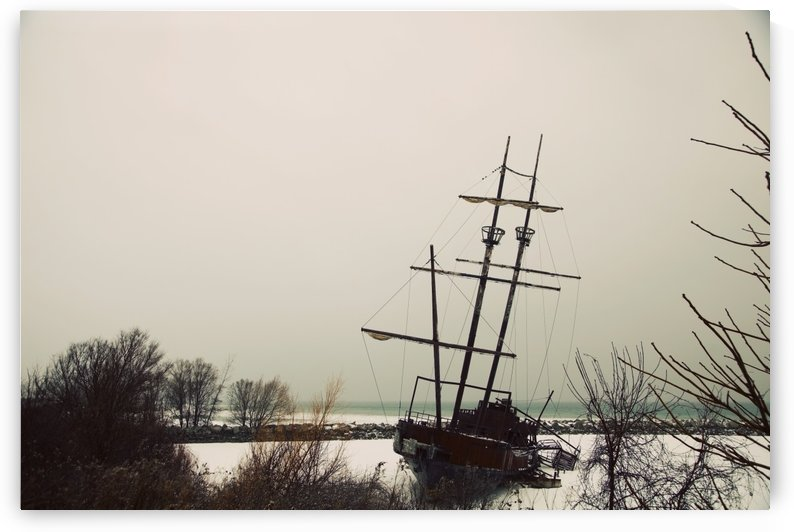 Jordan, Ontario, Canada; A Tall Ship Frozen In The Harbour by PacificStock