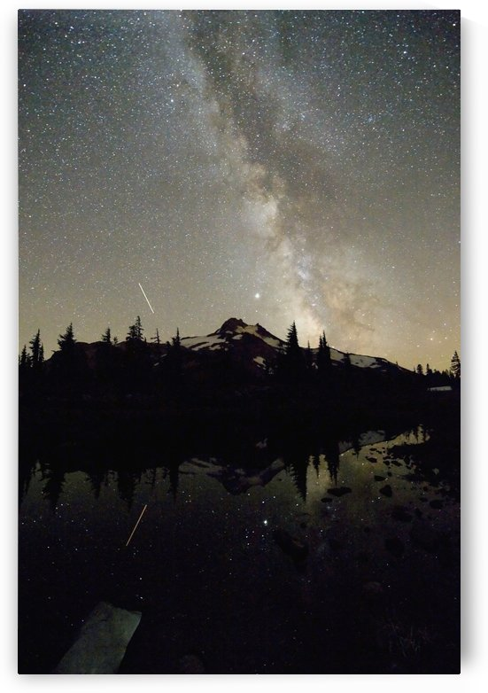 Oregon, United States Of America; Milky Way Over Mt. Jefferson by PacificStock
