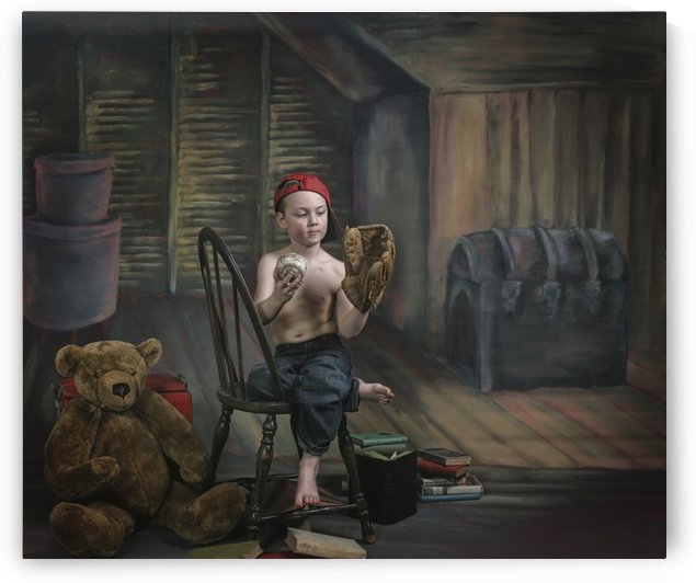 A Boy In The Attic With Old Relics; Victoria, British Columbia, Canada by PacificStock