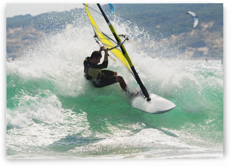 Wind Surfing In The Ocean; Tarifa, Cadiz, Andalusia, Spain by PacificStock
