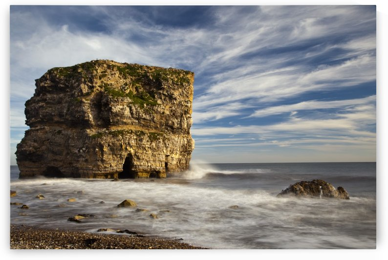 A Large Rock Formation Off The Coast; South Shields, Tyne And Wear, England by PacificStock