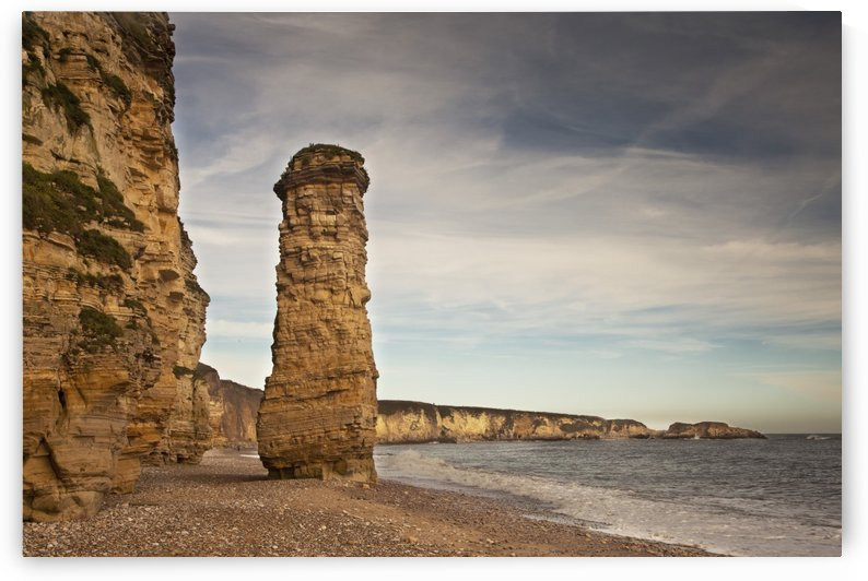 A Large Rock Formation On The Shore Along The Coast; South Shields, Tyne And Wear, England by PacificStock