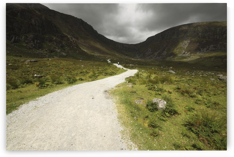 Lone Person Walking On A Path Leading Up To Mahon Falls In The Comeragh Mountains In Munster Region; County Waterford, Ireland by PacificStock