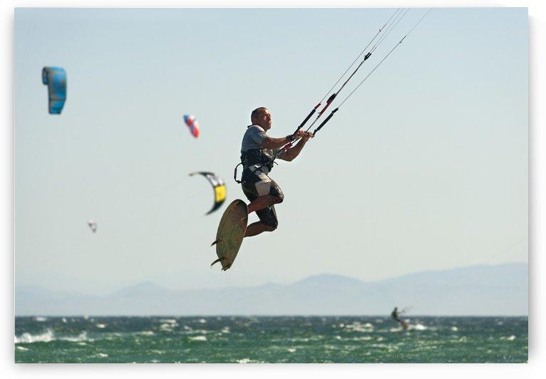 Kitesurfing; Tarifa, Cadiz, Andalusia, Spain by PacificStock