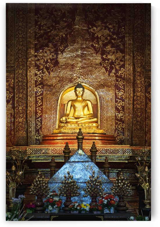 Interior Of Wat Phra Singh Temple; Chiang Mai, Thailand by PacificStock