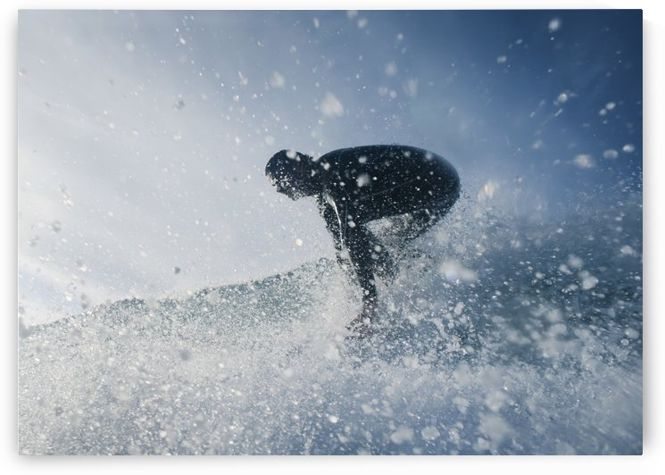 A Man Surfing Off Bunker Beach; Tarifa, Cadiz, Andalusia, Spain by PacificStock