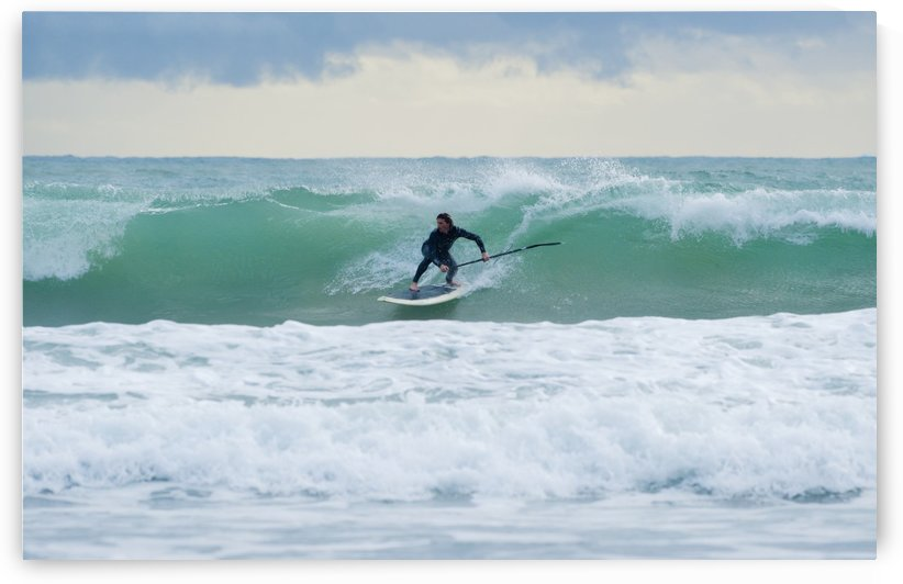 Surfing; Bunker Beach Tarifa Spain by PacificStock