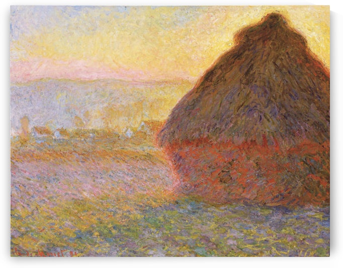 Claude Monet - Graystacks I by