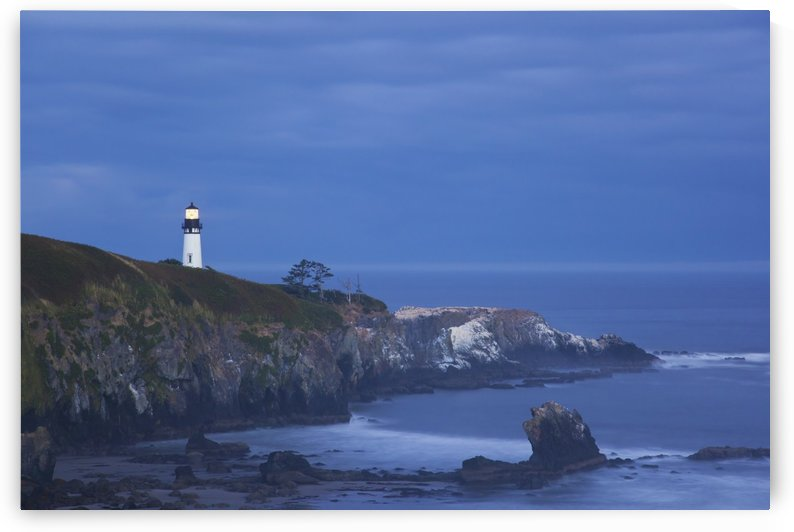 Morning Light Over Yaquina Head Lighthouse; Newport, Oregon, United States of America by PacificStock