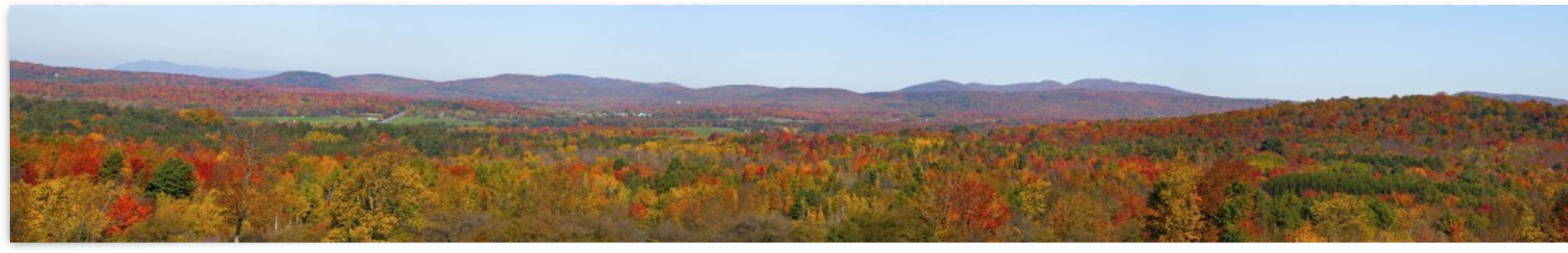 Autumn Panorama; Brome, Quebec, Canada by PacificStock