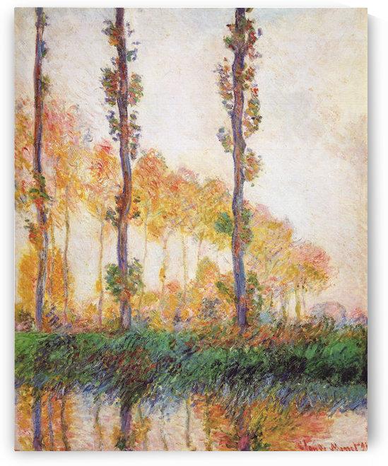 Claude Monet - Poplars in Autumn II by