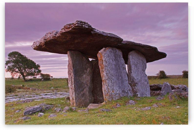 Poulnabrone Portal Dolmen In The Burren Region; County Clare, Ireland by PacificStock