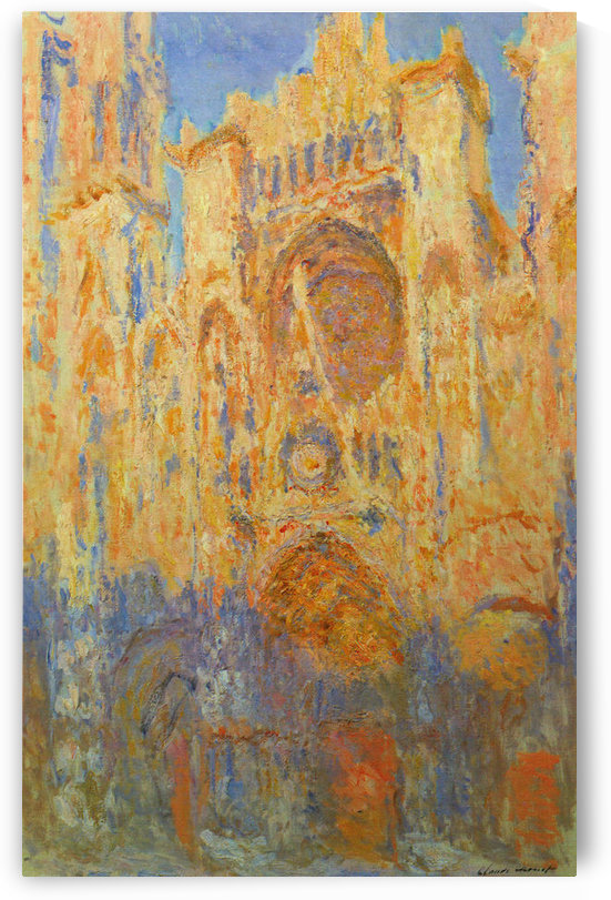Claude_Monet - Rouen Cathedral Facade at Sunset by