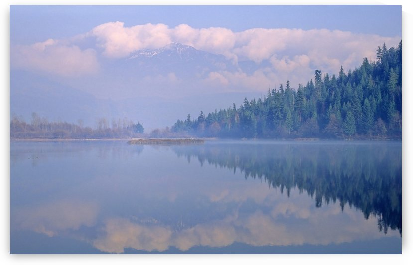 One Mile Lake, Near Pemberton, Bc In Early Morning Mist by PacificStock