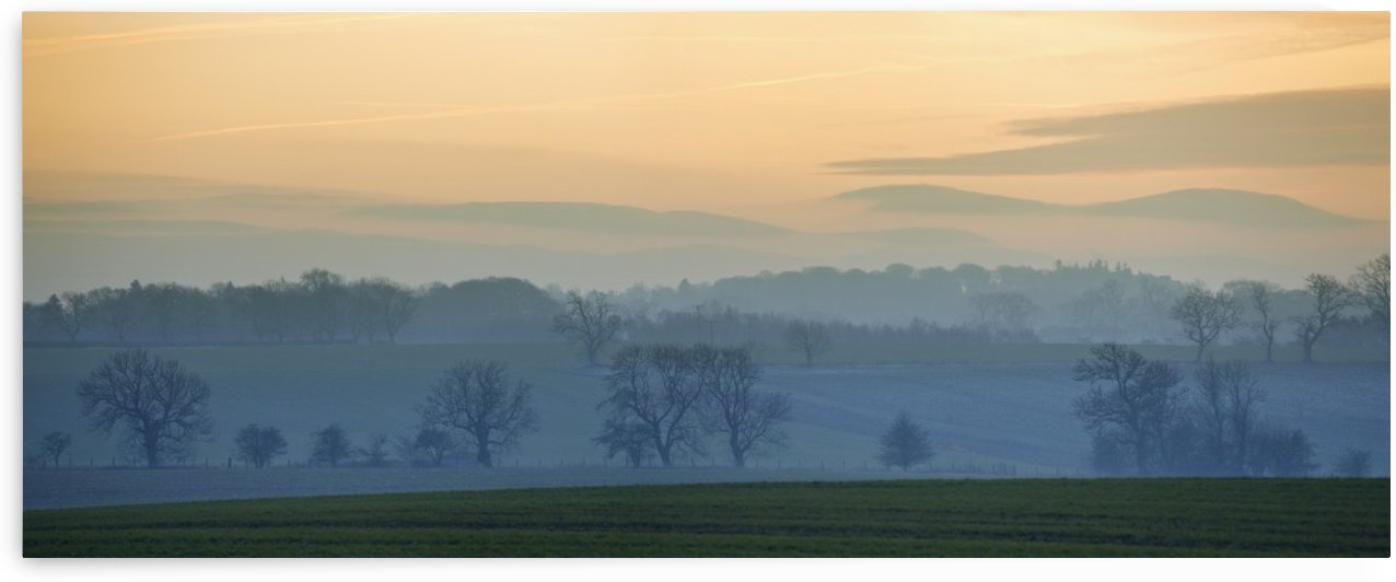 Sunset Over The Hills; Northumberland, England by PacificStock