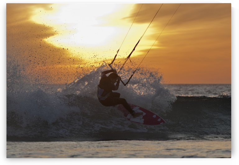 Kitesurfing; Tarifa, Cadiz, Andalusia, Spain by PacificStock