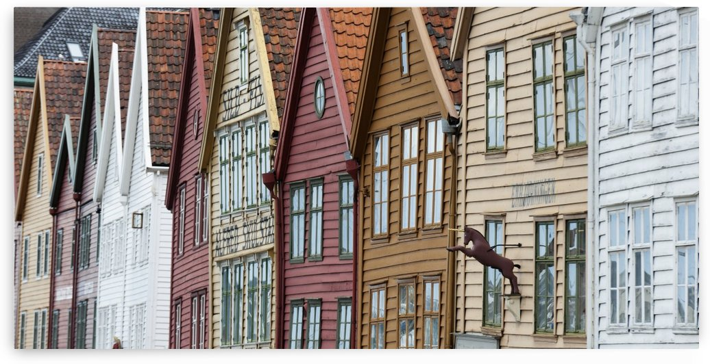 Colourful Houses In A Row; Bergen, Norway by PacificStock