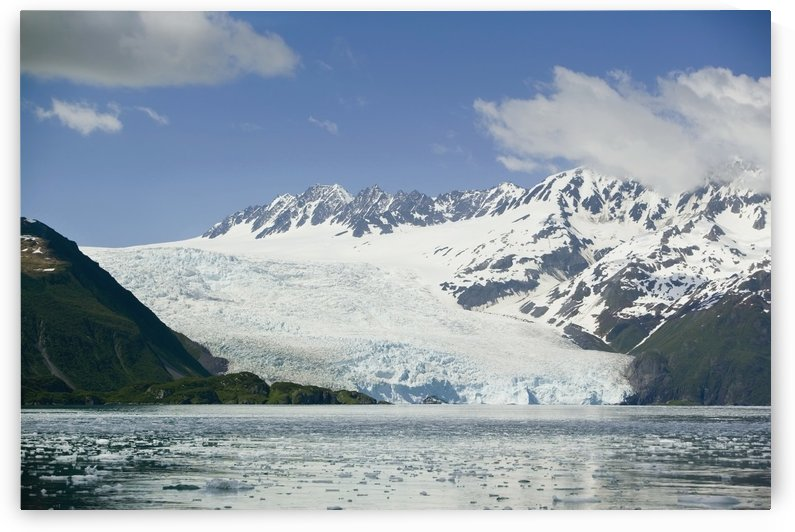 Aialik Glacier Meets Aialik Bay Within The Kenai Fjords National Park Summer Southcentral Alaska by PacificStock