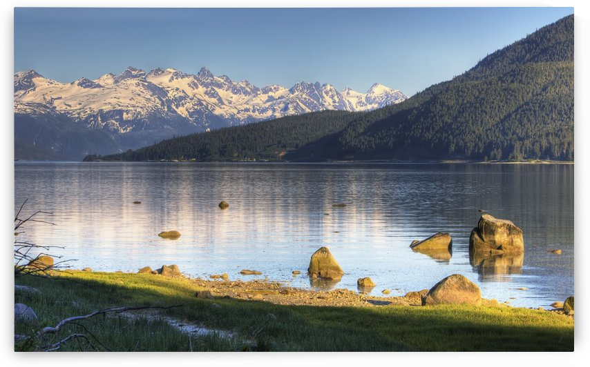 View Of Lutak Inlet And The City Of Haines, Southeast Alaska, Summer, Hdr Image by PacificStock