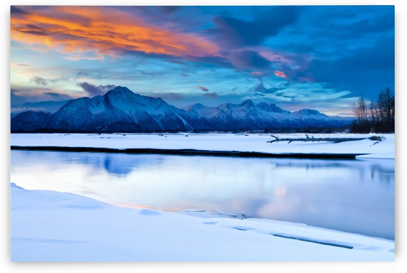 Scenic View At The Eklutna Tailrace Off The Old Glenn Highway In The Matanuska-Susitna Valley, Southcentral Alaska, Hdr by PacificStock