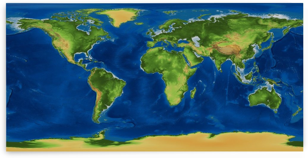 Geo World map by WorldFlag