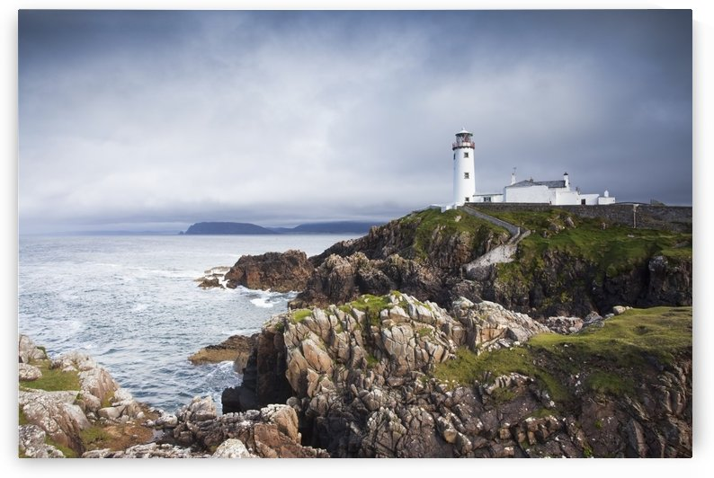 Fanad head lighthouse standing on the dramatic county donegal coastline;Northwest ireland by PacificStock