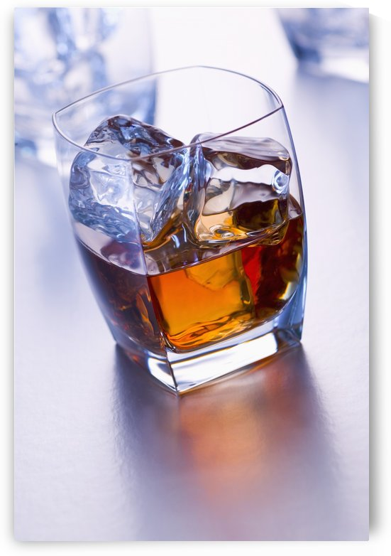 Glass of whiskey by PacificStock