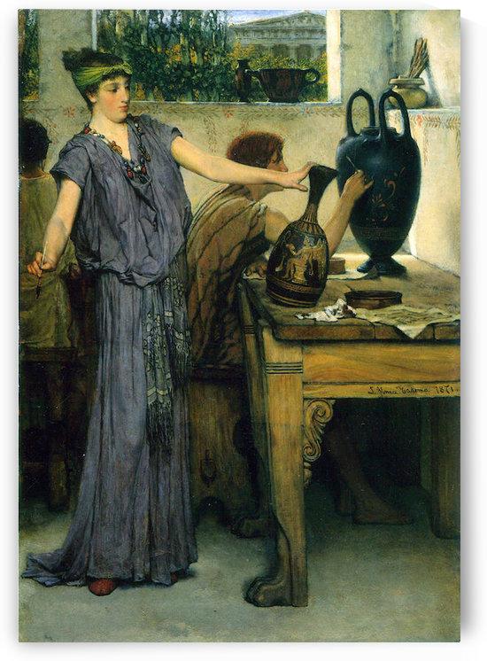 Pottery Painting by Alma-Tadema by Alma-Tadema
