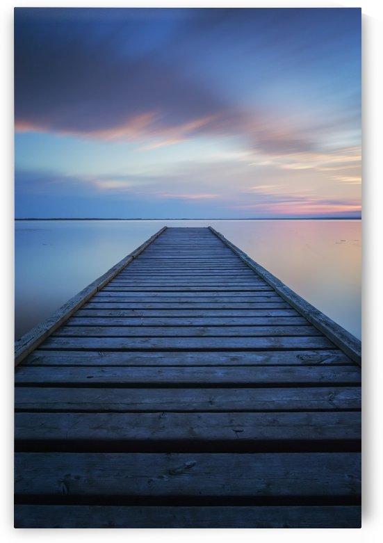 6 minute exposure of an old dock, Queen Elizabeth Provincial Park; Alberta, Canada by PacificStock