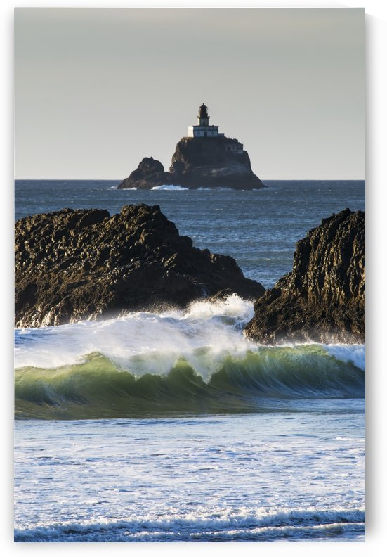 Waves breaking at Ecola State Park; Oregon, United States of America by PacificStock
