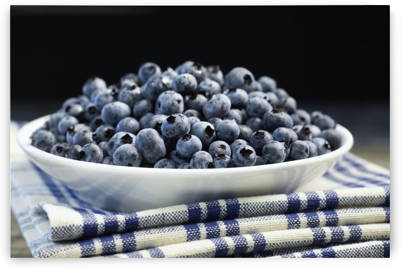 Bowl of blueberries; Quebec, Canada by PacificStock