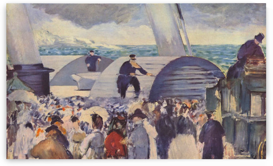 Embarkation after Folkestone by Manet by Manet