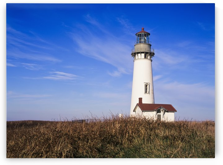 The Yaquina Head Lighthouse is found near Newport; Oregon, United States of America by PacificStock