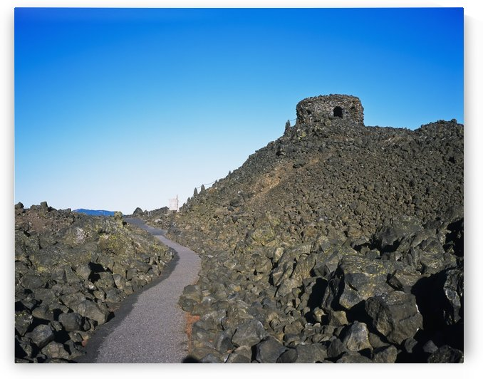 Lava fields at McKenzie Pass; Sisters, Oregon, United States of America by PacificStock