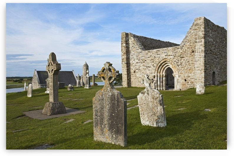 Clonmacnoise (cloister ruins); County Offaly, Ireland by PacificStock