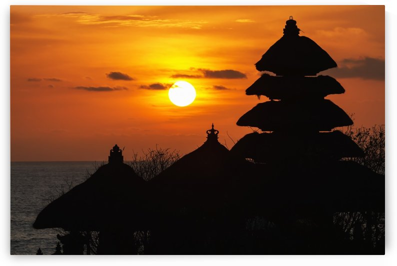 Tanah Lot Temple at sunset, Bali, Indonesia by PacificStock