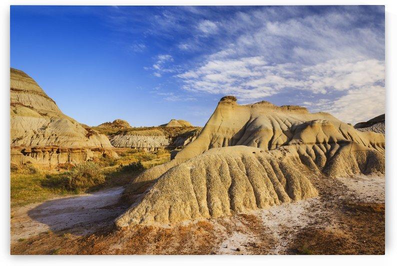 Badlands landscape, Dinosaur Provincial Park; Alberta, Canada by PacificStock