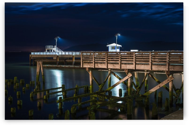 17th Street Pier is illuminated on a summer evening; Astoria, Oregon, United States of America by PacificStock