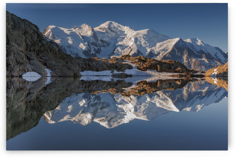 White in Black (Mont Blanc in Lac Noir), French Alps by Steve Thompson Sunstormphotography