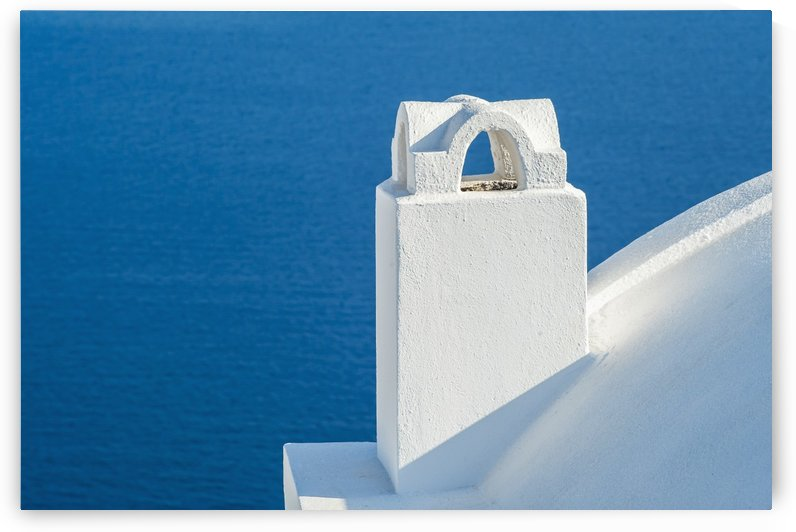 Whitewash building and tower; Oia, Santorini, Greece by PacificStock