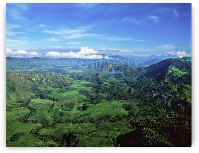 Aerial view of the Highlands; Papua New Guinea by PacificStock